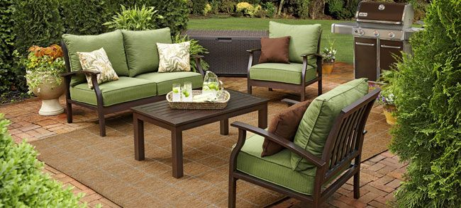 Lowes Patio Set   Want This For My Backyard, Think Itu0027ll Go Great With All  The Earthy Surroundings! Not Sure How I Feel About Outdoor Rugs But They  Seem To ...