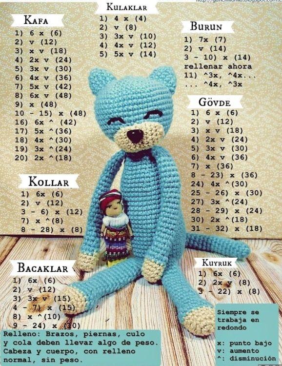 Raziye | raziye | Pinterest | Patrones amigurumi, Gato y Amirigumi
