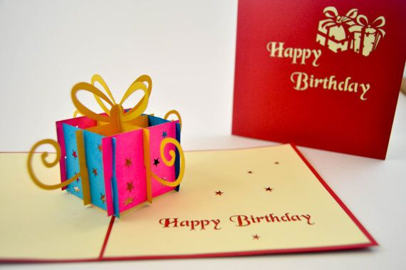 3d Cards Birthday Card Happy Birthday Card Pop Up Card 3d