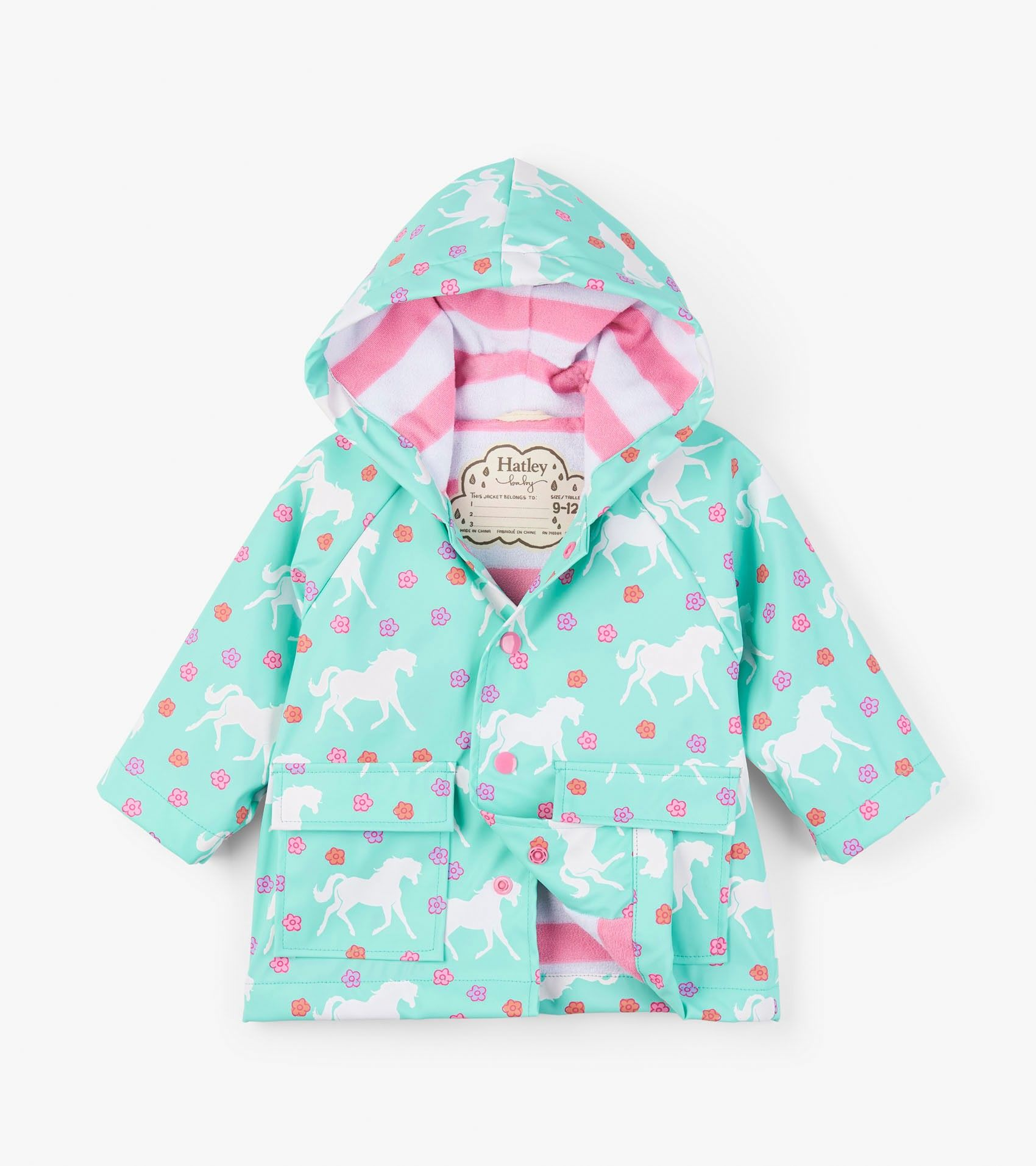 a5fcd37c8 Colour Changing Galloping Horses Baby Raincoat - Outerwear - Categories -  Baby Girls | Hatley US