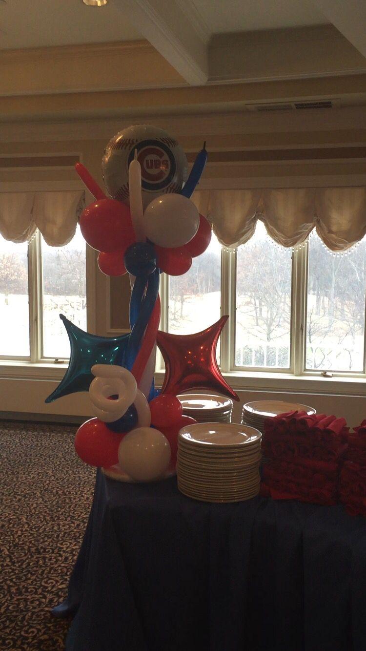 Deluxe Balloon Centerpieces CenterpiecesBirthday BalloonsChicago Cubs