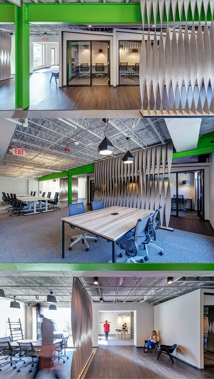 interesting office spaces. Felt Covered Dividers Provide A Visual \u0026 Acoustic Solution To Divide The Office Space. Twist Is Nice Design Idea. Space Kept Industrial Roots Interesting Spaces F