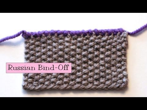 Binding Off Stitches In Knitting : Knitting Help - Russian Bind-Off This is also a very helpful sight for beginn...