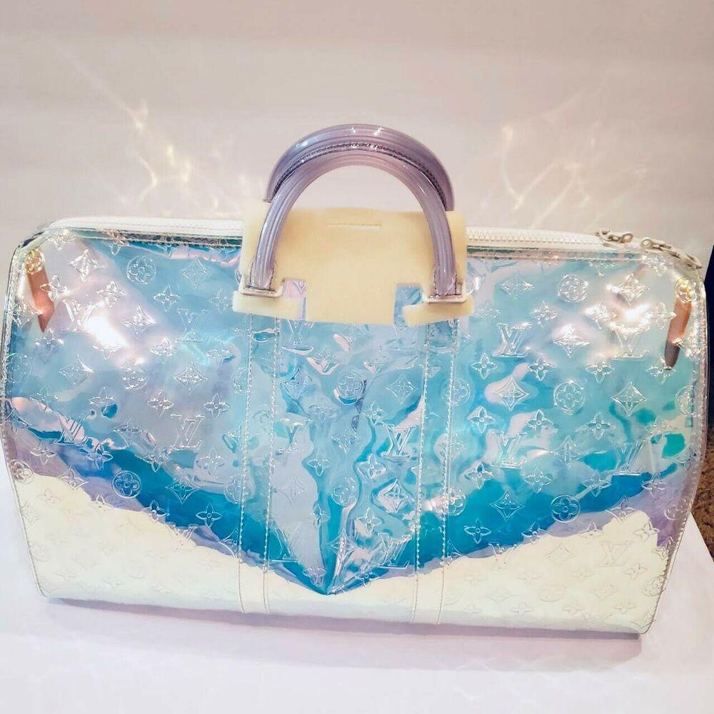 e926243d9d5 Louis Vuitton Virgil Abloh Keepall 50 Bag 19SS Prism Bandouliere ...