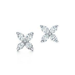 Tiffany Victoria Earrings In Platinum With Diamonds Tiffanypinterest
