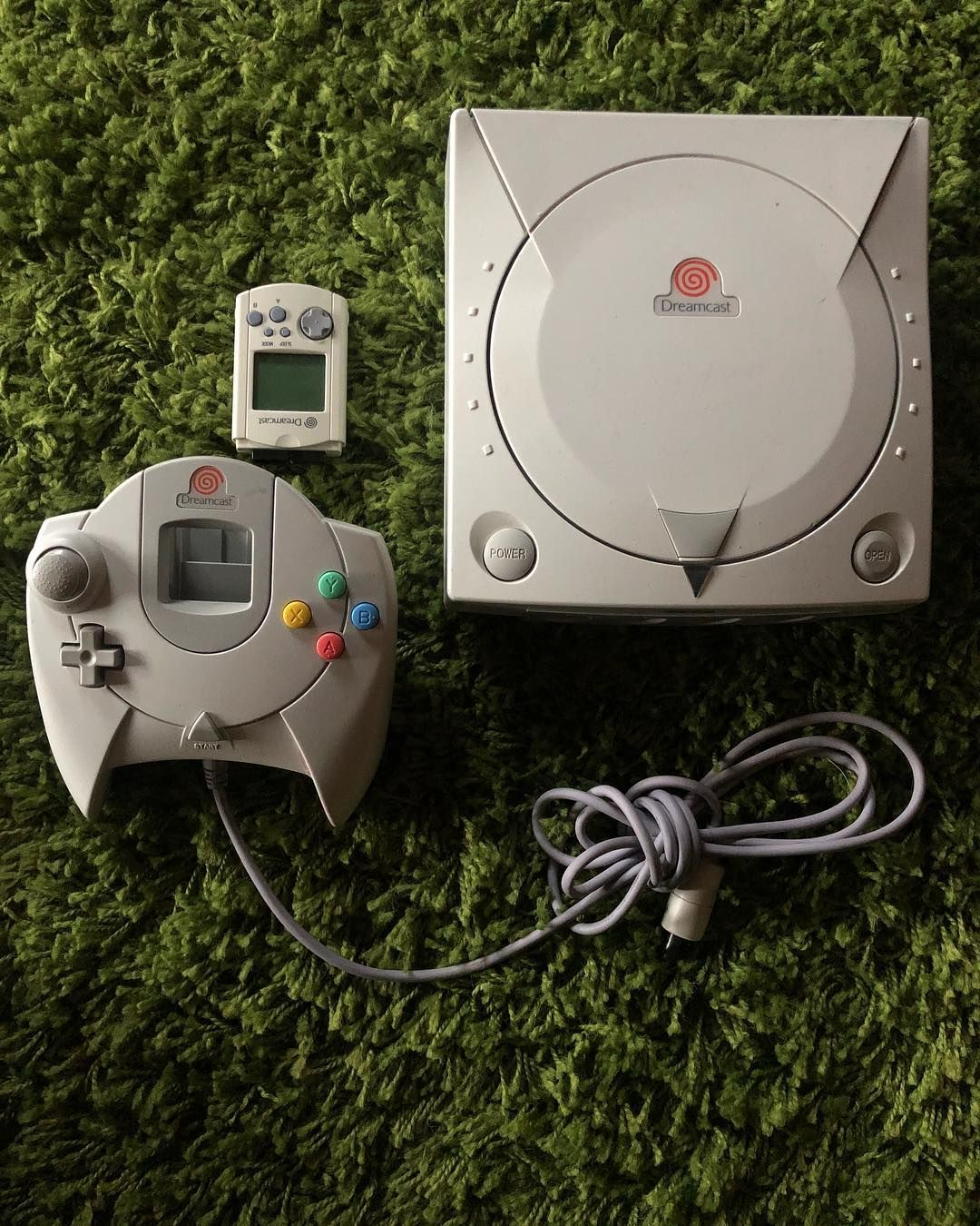 Sega Dreamcast Console White Controller W Vmu Retrogaming Segadreamcast Retroconsoles Consolesforsale Gaming Sega Dreamcast Sega Games Sega