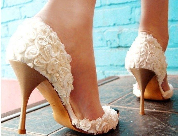 Genial Buy Your Own Bridal Wedding Shoes Pumps Peep Toe Wedding Honeymoon  Stitching Lace Pink Red Hot