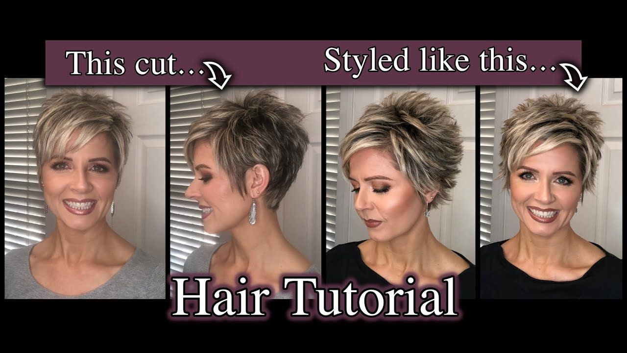 Pixie Hair Tutorial: Spiked with a Staggered Part in 2019 | Cool short hairstyles, Pixie ...