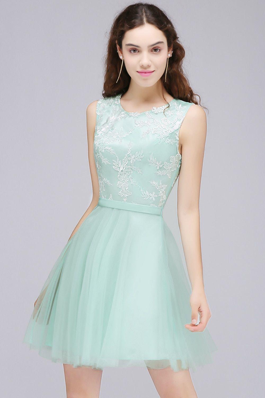 1d90684900e Vestido de Festa Curto Real Image Pink Lace Appliques Homecoming Dresses  2017 Cheap Sleeveless Short 8th Grade Prom Dresses - TakoFashion - Women s  Clothing ...