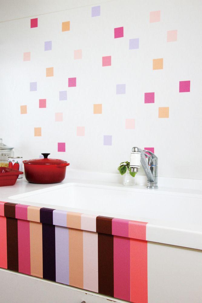 Idée déco dans la cuisine  pour customiser un évier blanc et sur