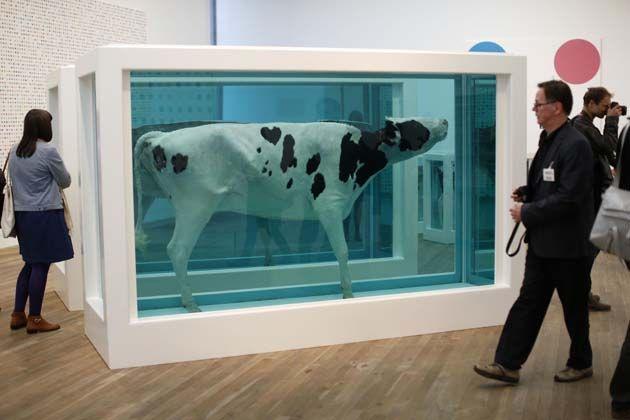 Mucche in formaldeide ed altre amenità, Damien Hirst alla Tate Modern di Londra  http://bit.ly/TATE_MODERN