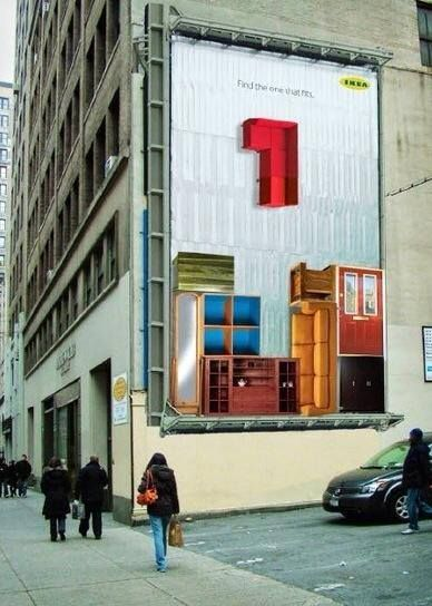 Ikea - Tetris Billboard AdTime Pinterest Billboard