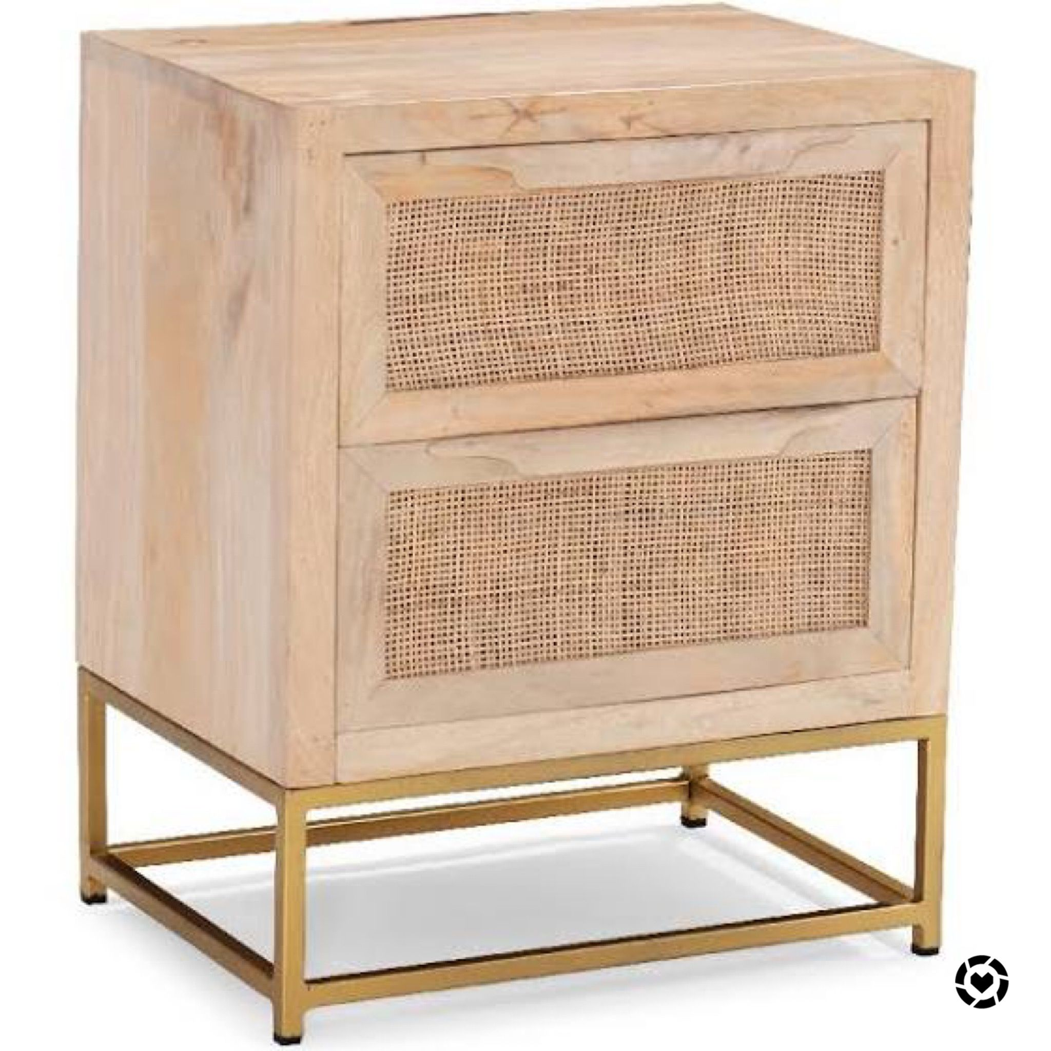Raw Wood Cane 2 Drawer Nightstand With Metal Base In 2020 Rustic Dinning Room Decor Accent Chests And Cabinets Dining Room Cozy