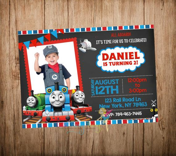 Thomas The Train Birthday Invitation By CutePartyFairy