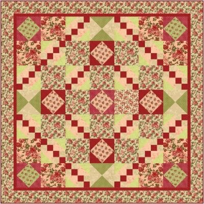 Rosie Red Road Quilt Pattern FHD-124