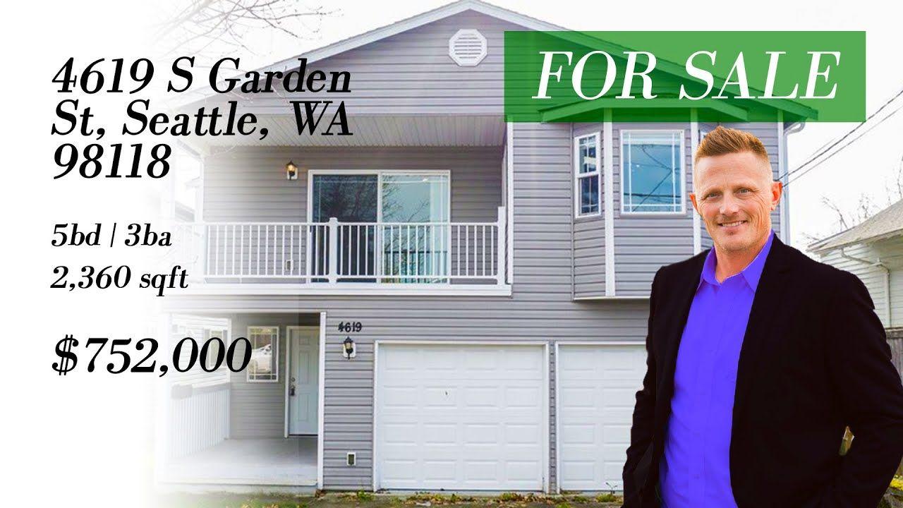 For Sale 4619 S Garden St Seattle Wa 98118 Light Rail Station Seattle Light Rail