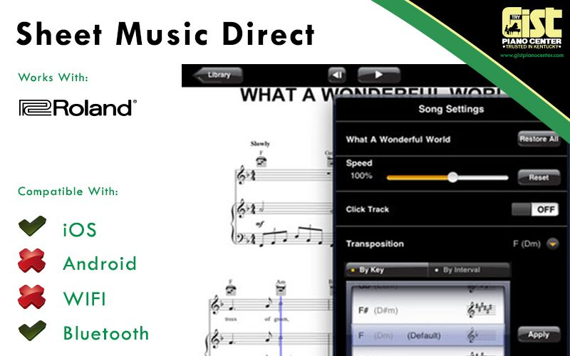 With the World's largest in-app music store, Sheet Music Direct is