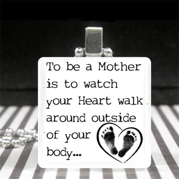Mothers Day Jewelry Motherhood Quote Necklace New Mom Gift Baby