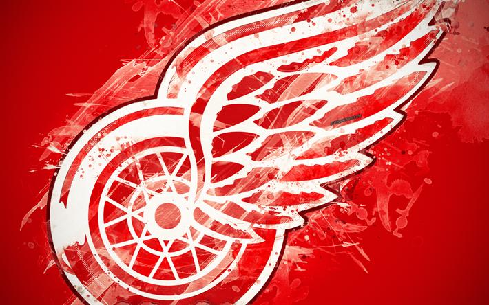 Download Wallpapers Detroit Red Wings 4k Grunge Art American Hockey Club Logo Red Background Creative Art Emblem Nhl Detroit Michigan Usa Hockey Ea Grunge Art American Hockey Detroit Red Wings