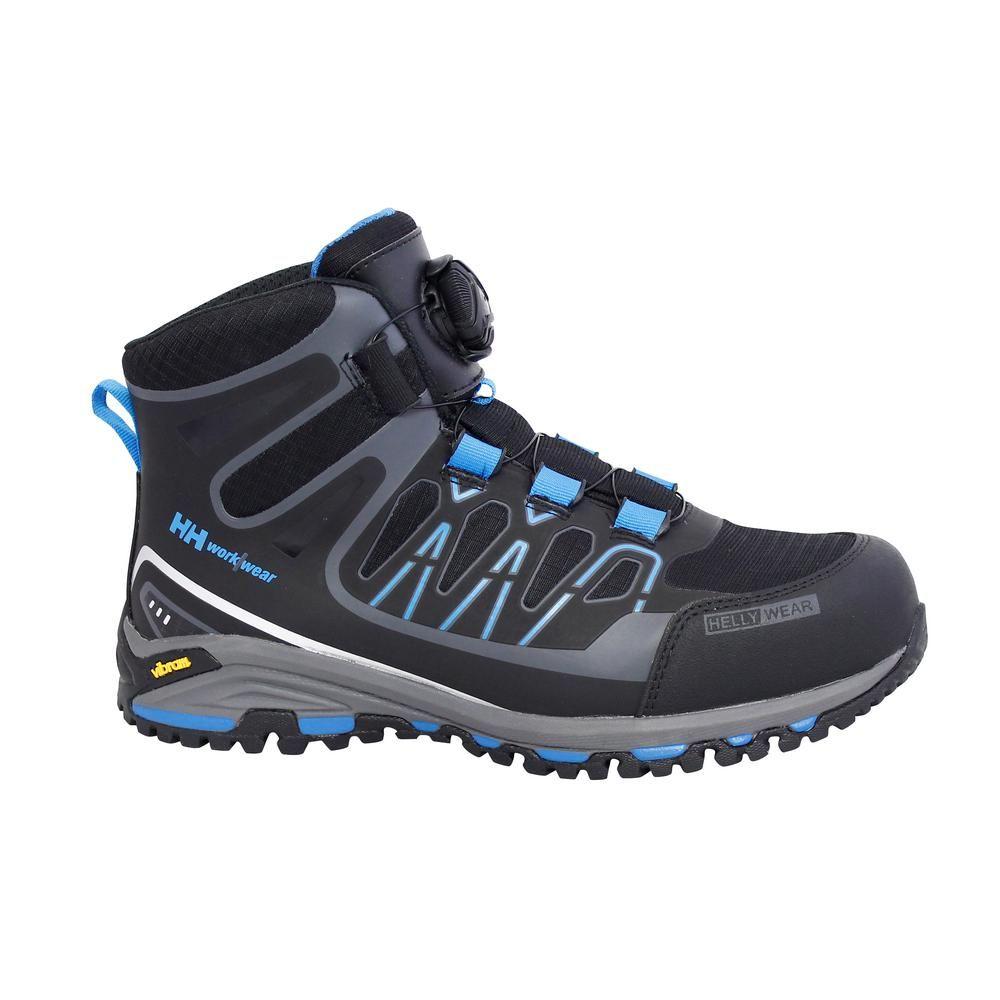 cc7debe0faf Helly Hansen Fjell Mid Boa Men Size 10.5 Black Blue Nylon Composite Toe  Work Boot