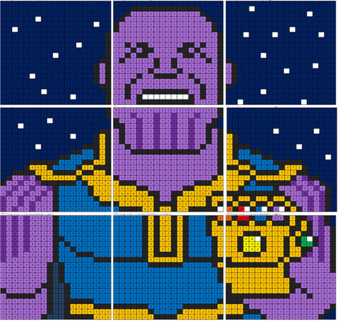 Infinity War Thanos Coloring Mural Coloring Squared Lego Coloring Pages Coloring Pages Superhero Coloring Pages