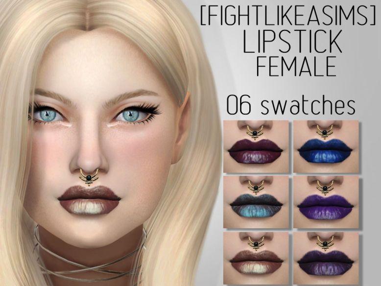 Fightlikeasims : Lipstick female.