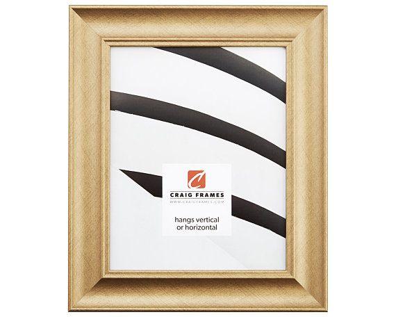 Craig Frames 12x12 Inch Brushed Gold Picture Frame Vintage Revival 1 75 Wide 226058421212 Craig Frames Gold Picture Frames Frame