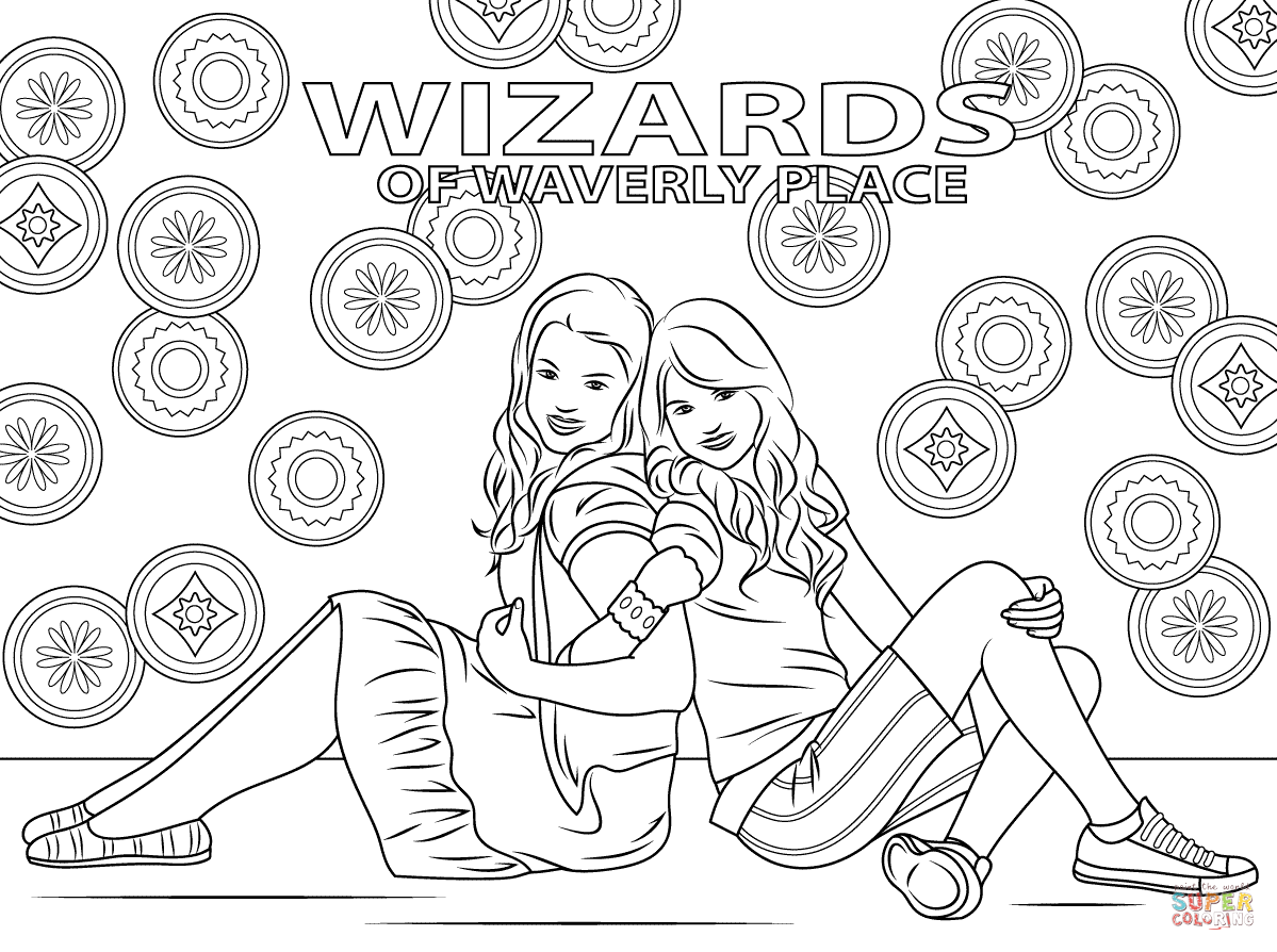 Harper And Alex From Wizards Of Waverly Place Coloring Pages Png 1199 894 Coloring Pages To Print Wizards Of Waverly Place Coloring Pages