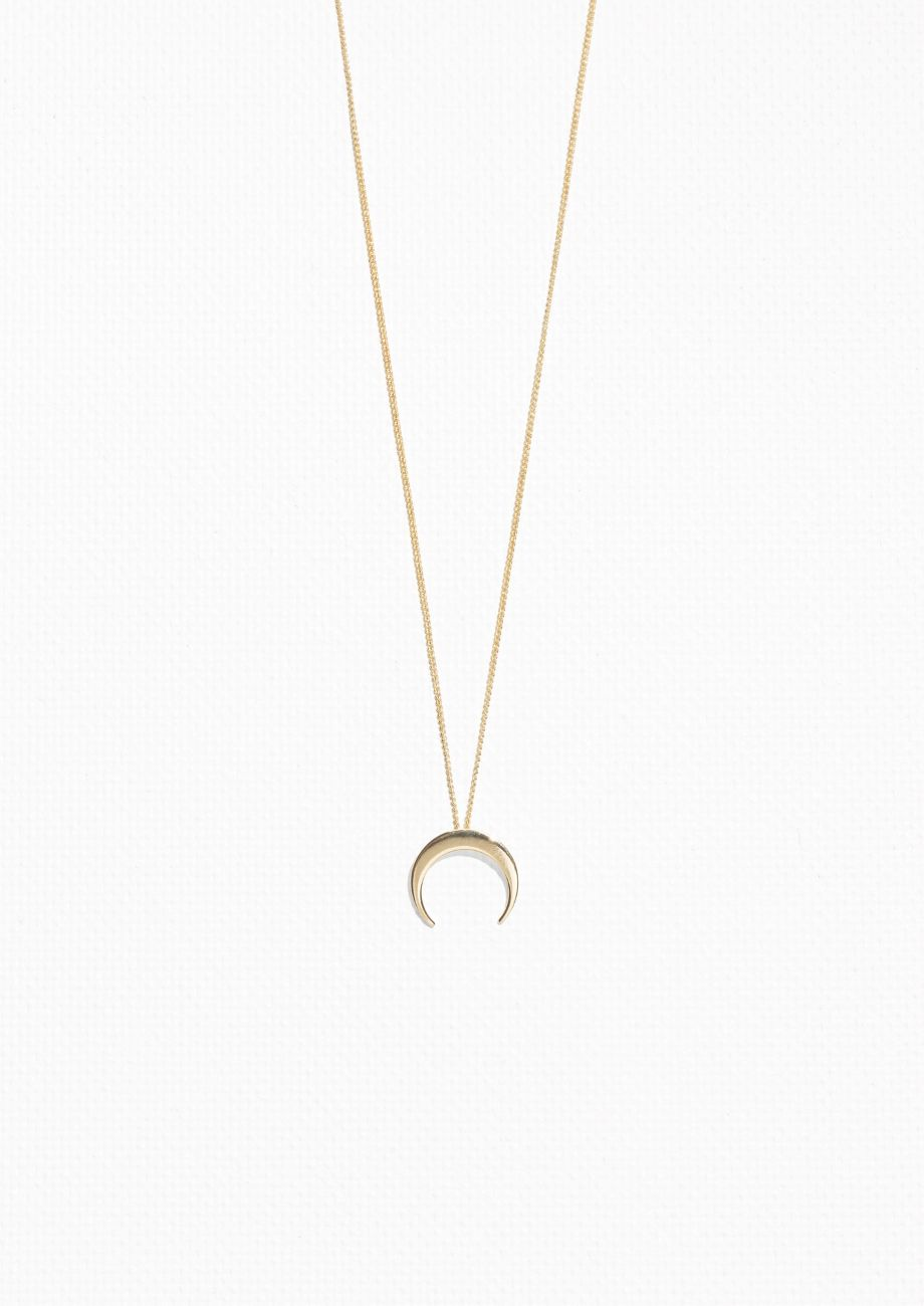 4f57b283459e48 & Other Stories image 1 of Crescent Moon Necklace in Gold | Fashion ...