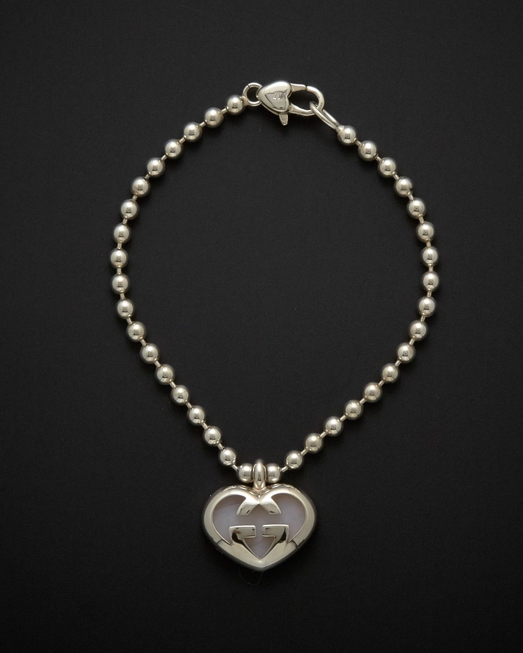 Spotted This Gucci Love Britt Silver Opal Interlocking G Logo Heart Bracelet On Rue La La Shop Quickly 279 Heart Bracelet Beautiful Jewelry Jewels