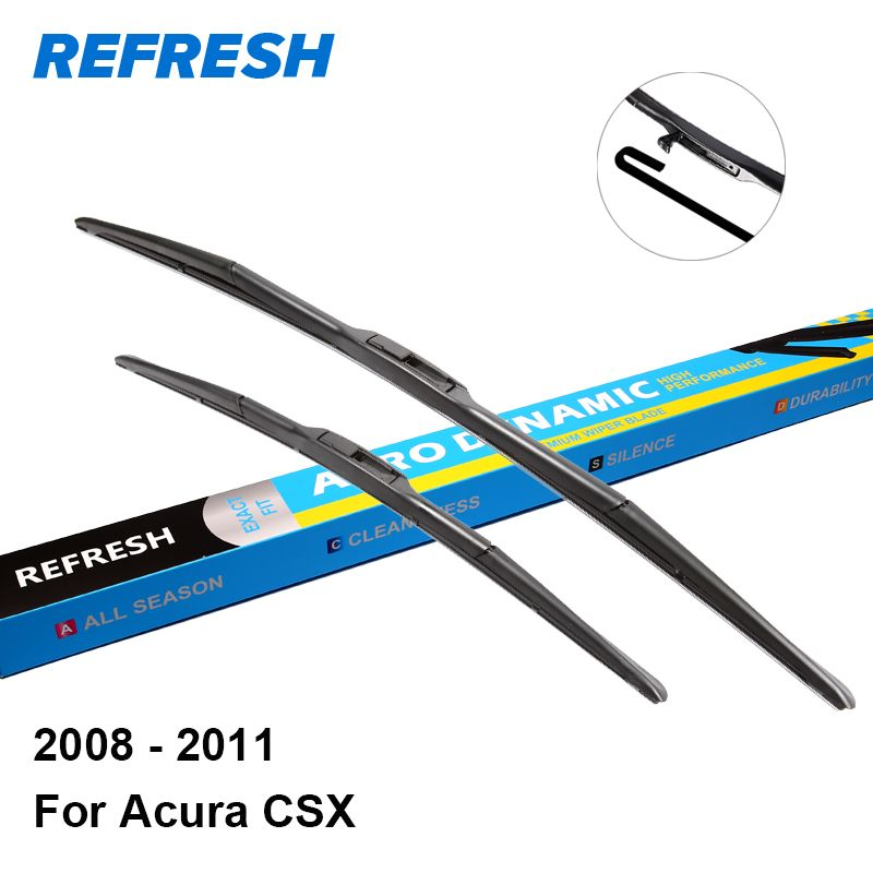 "Refresh Wiper Blades For Acura CSX 26""&22"" Fit Hook Arms"