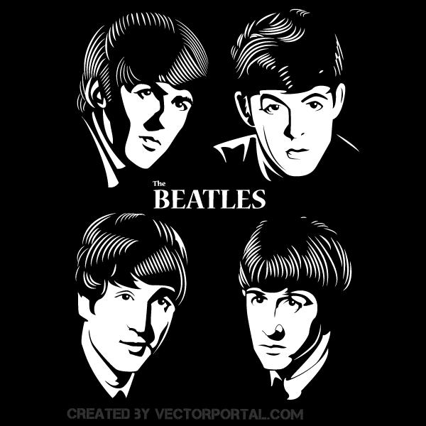 Beatles Vector Image The Beatles Beatles Art Beatles Silhouette