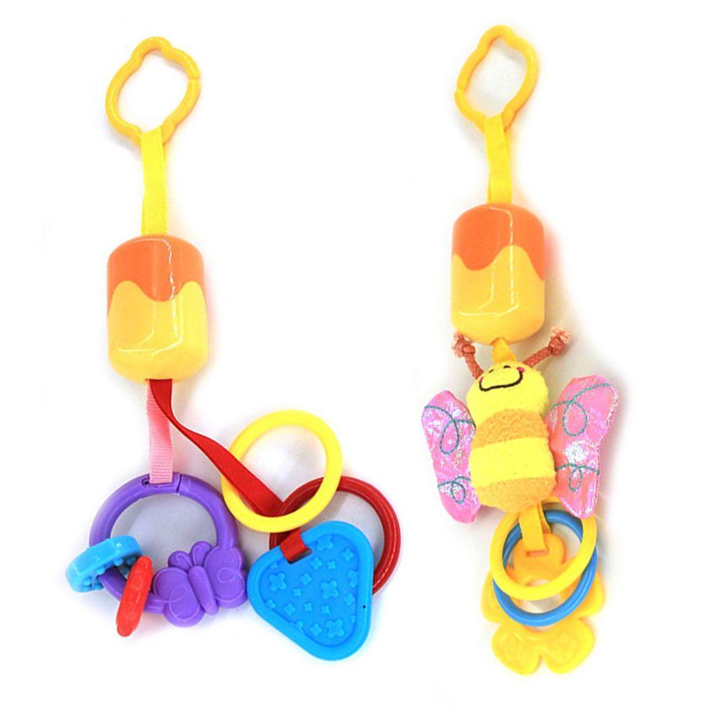 Car hanging toys  Cute Infant Baby Plush Stroller Car Seat Hanging Teether Rattles