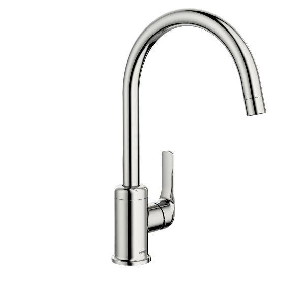 Moen Charmant Chrome Higharc One Handle Kitchen Faucet  Kitchen New Single Handle Kitchen Faucet Inspiration Design