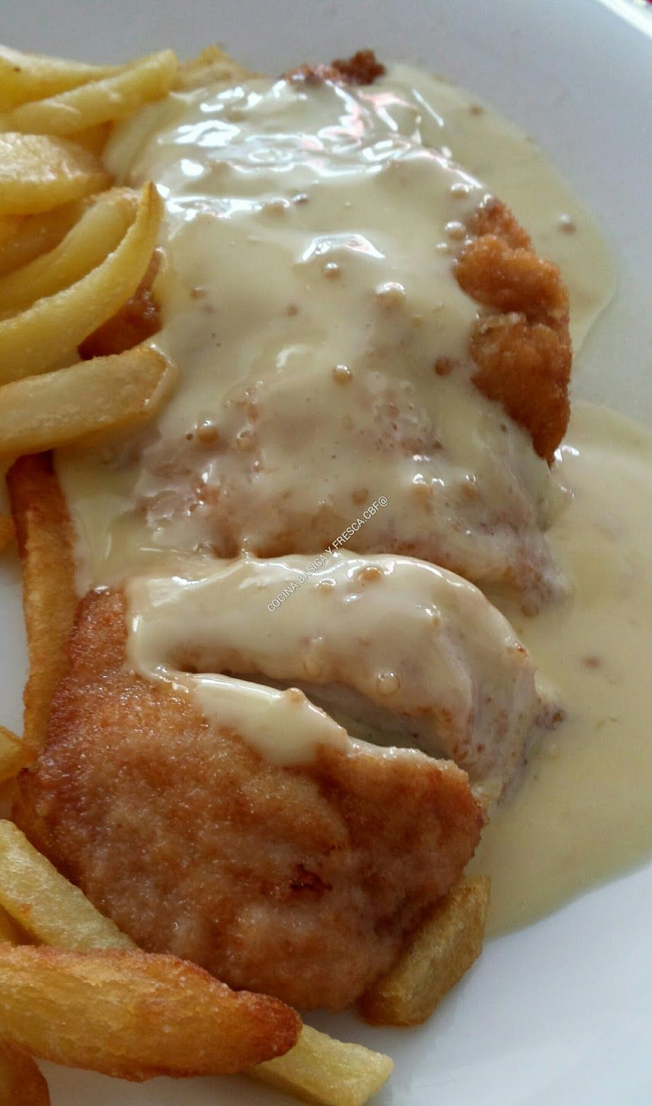 Pechugas de pollo con salsa a la mostaza y miel -