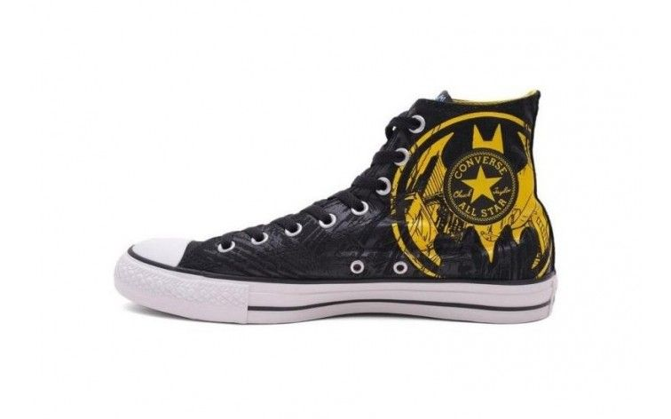 CONVERSE Black DC Batman Caped Crusader Yellow Logo Unisex Hi Top Shoes On  Sale - ShopGoo Online Store 3f43466e0