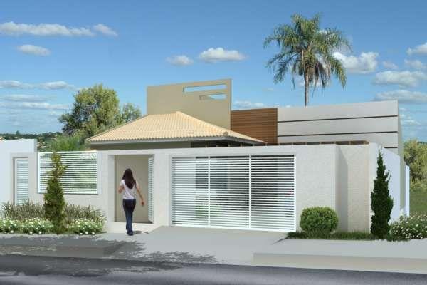 27 modelos de frentes de casas simples e modernas tiny for Modelos de frentes de casas