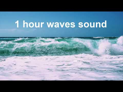 1 Hour Breaking Waves Sounds Crashing Water Seashore ساعة من صوت موج البحر الهائج على الشاطئ Waves Sound 1 Hour Waves Soun Waves Sound Of Rain Nature Sounds