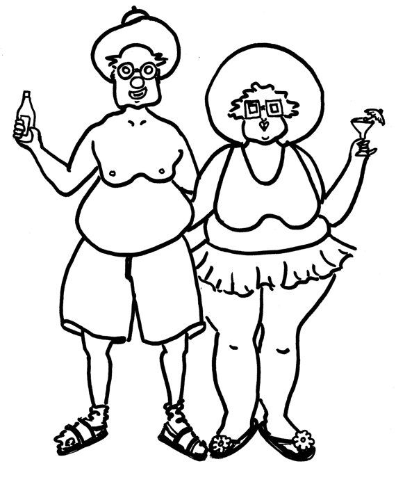 The Tourists Funny Coloring Pages for Adults from by