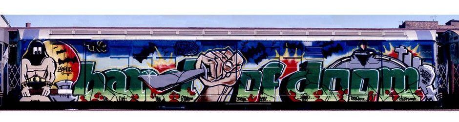 002 HAND OF DOOM BY SEEN UA NYC CITY SUBWAY GRAFFITI PHOTO BY
