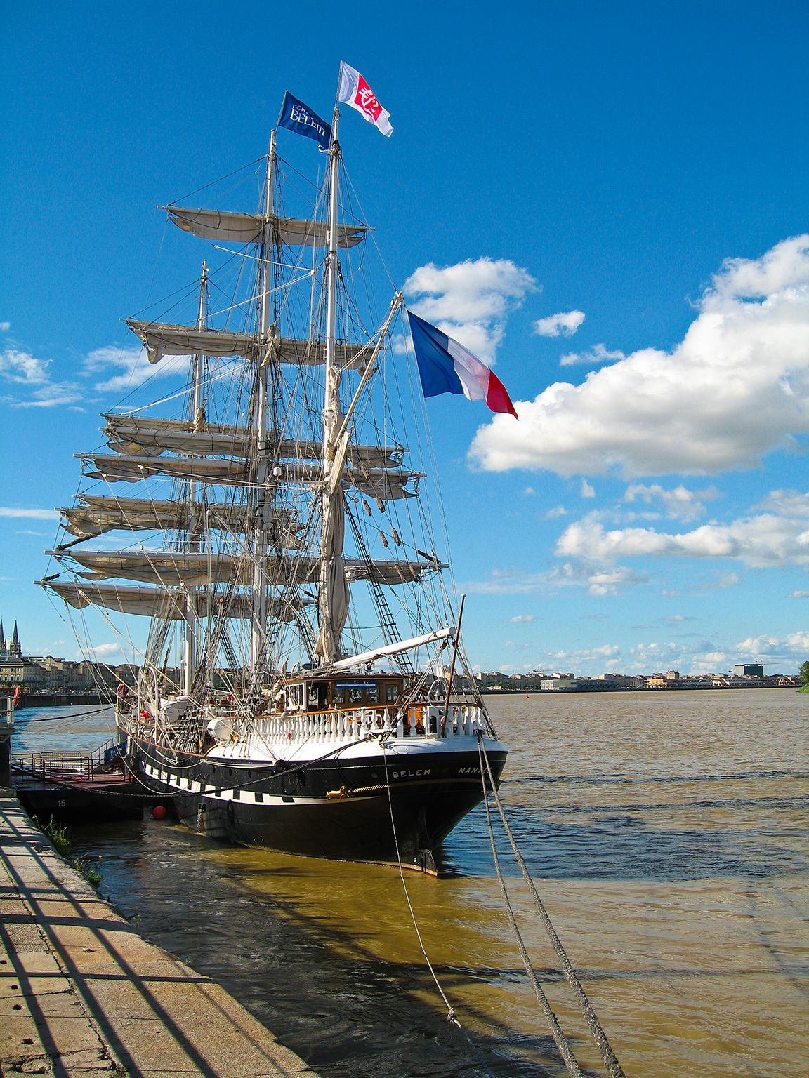 Le Belem, Bordeaux fête le fleuve, Bordeaux, Gironde, France. Photo: Olivier Aumage
