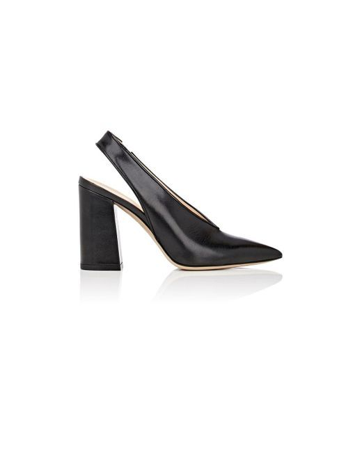8c025deb7e0 Barneys New York - Black Malto Leather Slingback Pumps - Lyst