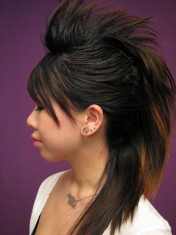 Faux Hawk Hairstyle for Women Coiffures dégradées