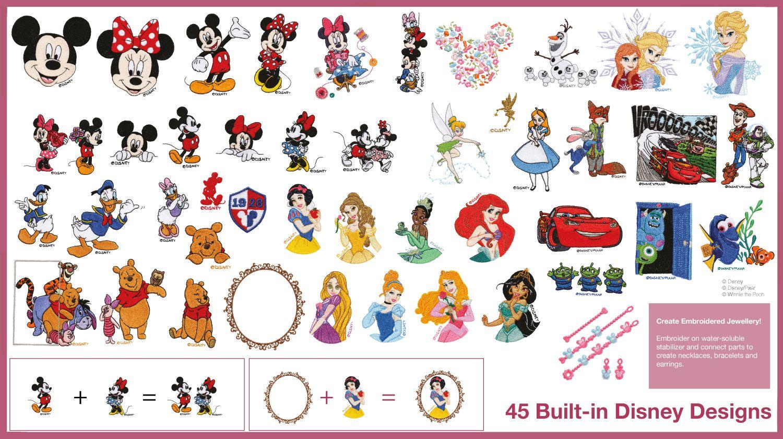 Estos son lo patrones de bordado Disney, incluidos en las máquinas ...