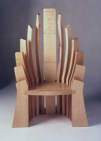 Throne Wooden Chairs | Wood design, Woodworking projects ...