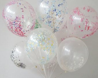 Giant Round Clear / opaque Balloons with by ThePartyPostman