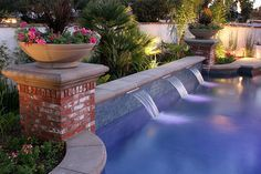 image result for pool water feature pools pinterest pool water features and pool water - Rectangle Pool With Water Feature