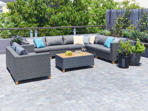 Ulogarnitura Ebbeskov Modul 8 Uleses Jysk Outdoor Furniture Garden Furniture Sectional Sofa