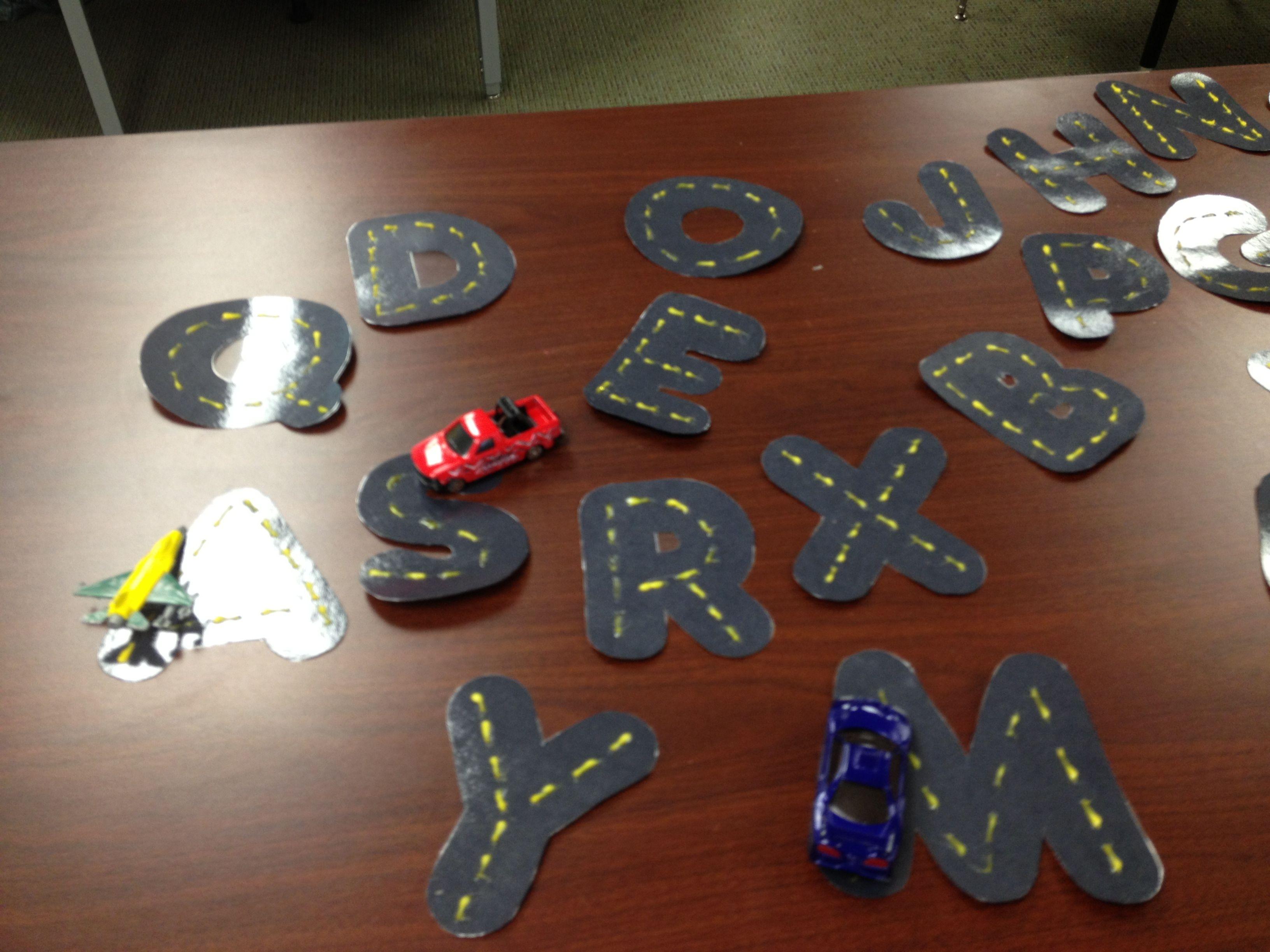 Preschool Road Race Car Letters