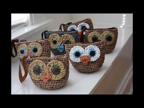 Monederos Tejidos A Crochet 2016-2017 - YouTube manualidades